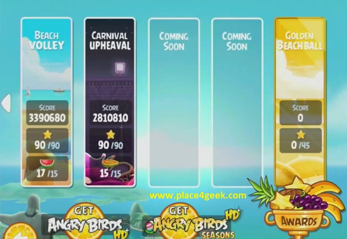 Angry Birds Golden Beach Volley : niveaux secrets