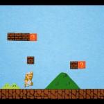 Une animation de Super Mario Bros en papier