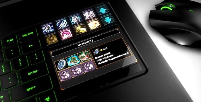 Le second écran du Razer Blade