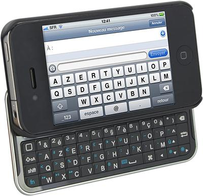test du clavier bluetooh ikeyboard pour iphone 4 4s place4geek. Black Bedroom Furniture Sets. Home Design Ideas