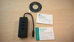 Test du HUB USB Type C avec 3 ports USB et 1 port Ethernet d'Aukey