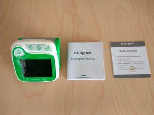 Test du tensiomètre connecté Koogeek