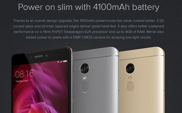Test du smartphone Xiaomi Redmi Note 4