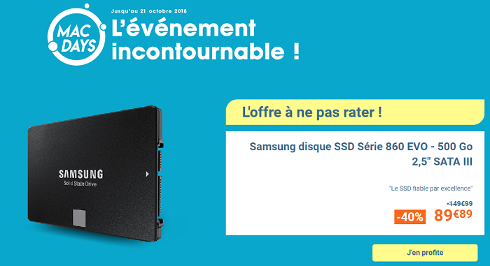 Samsung disque SSD Série 860 EVO - 500 Go